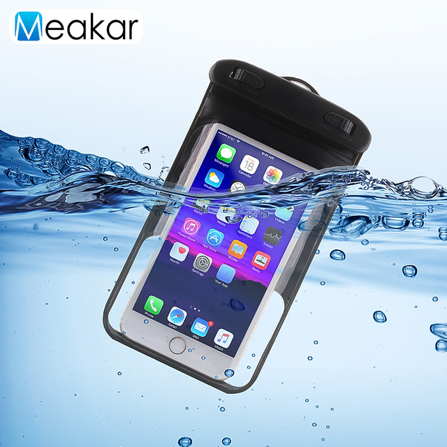 finest selection f4134 e97af US $3.78 5% OFF|5.5 inch Waterproof Phone Case For Mobile Phone Bag Cover  Clear PVC Sealed Underwater Swimming Case-in Phone Pouch from Cellphones &  ...