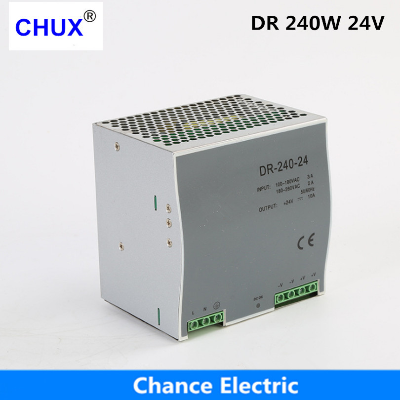 Din rail type Switching Power supply 240w 24V 10A Single Output AC dc input SMPS DR240w