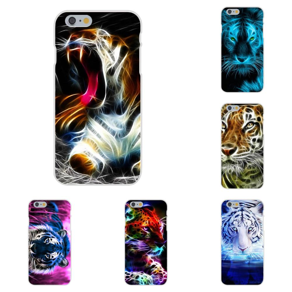 Animal Neon Tiger Outline Soft TPU <font><b>Cases</b></font> For <font><b>Huawei</b></font> Nova 2 V20 Y3II Y5 Y5II Y6 Y6II <font><b>Y7</b></font> Y9 G8 G9 GR3 GR5 GX8 Prime 2018 <font><b>2019</b></font> image