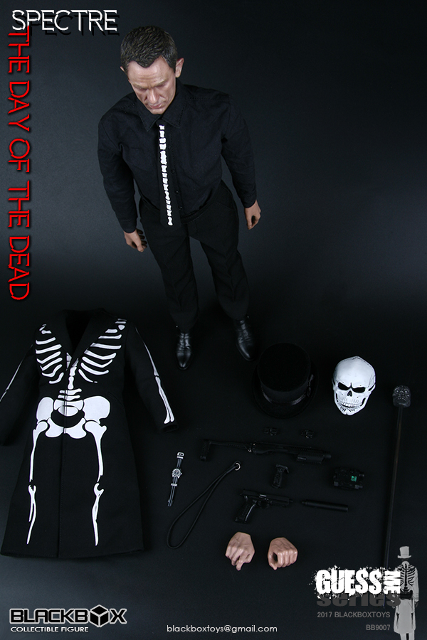 1/6 BB9007 Guess Me Series Day of the Dead Specter Daniel Craig James Bond Full set Action Figures with Mask Collection Gift bond by design the art of the james bond films
