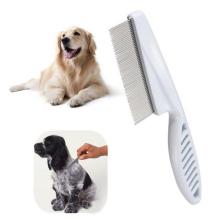 New 2Pcs Dog Comb Stainless Steel Teeth Hair Brush Grooming for Dogs Cat Furminators Removed Flea Combs Pet Supplies