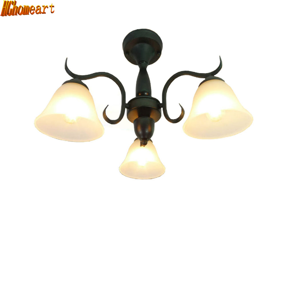 HGhomeart European chandelier bedroom lamp living room lights restaurant Iron minimalist modern penthouse floor led chandeliers nordic bedroom lamp clot multiple chandelier iron minimalist living room lights modern creative restaurant a1 zh