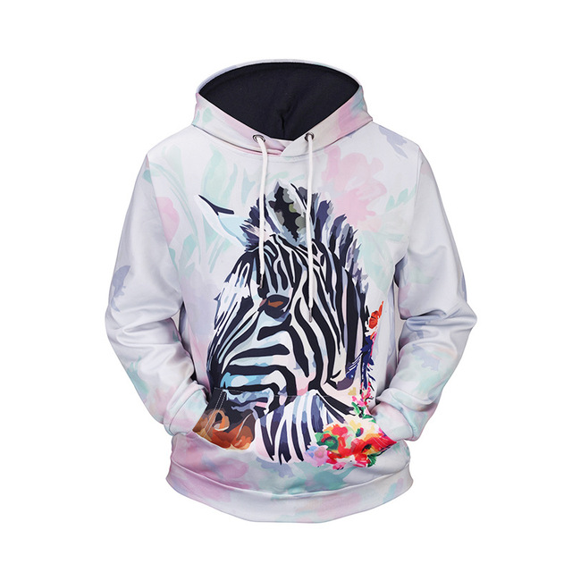 d0a74fedcac7b 2017 New Fashion Men's sweatshirt zebra print Hooded Men/Women Hoodies  casual Autumn Winter Thin tracksuits hoody tops J41