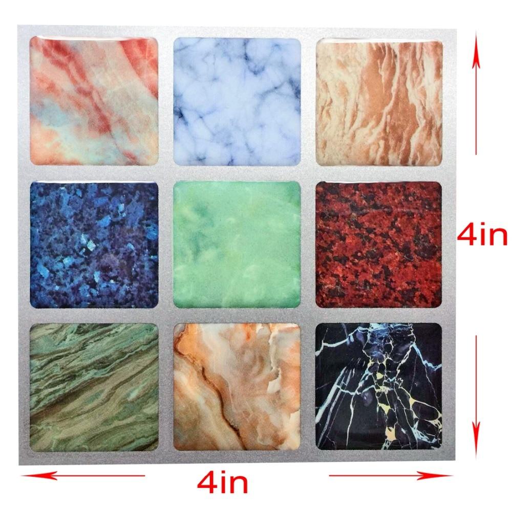 Vinyl Floor Tile Backsplash: 3D Art Mosaic Wall Tile Self Adhesive Removable Wallpaper