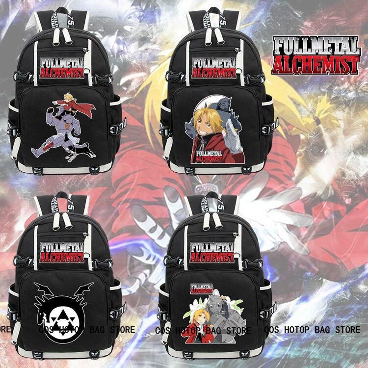 Anime Fullmetal Alchemist Backpack Knapsack Packsack Travel School Otaku Bags