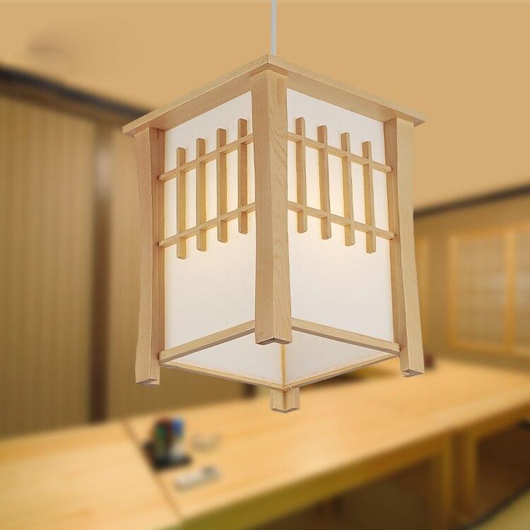 все цены на Japanese tatami wood Pendant Lights lamps original sheepskin lamp restaurant study and bedroom sushi restaurant LU815309 онлайн