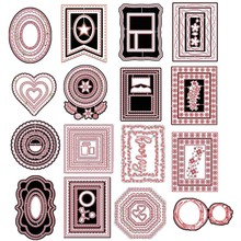 Stitched Rectangles Scalloped Ovals Circles Hearts Octagons Metal Cutting Dies for DIY Scrapbooking Paper Cards Crafts 2019 New