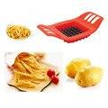 Картофель Резак Растительные Slicer Chopper Фишек, Делая Устройство Фри ABS + Нержавеющая Сталь Кухня Кулинария Инструменты
