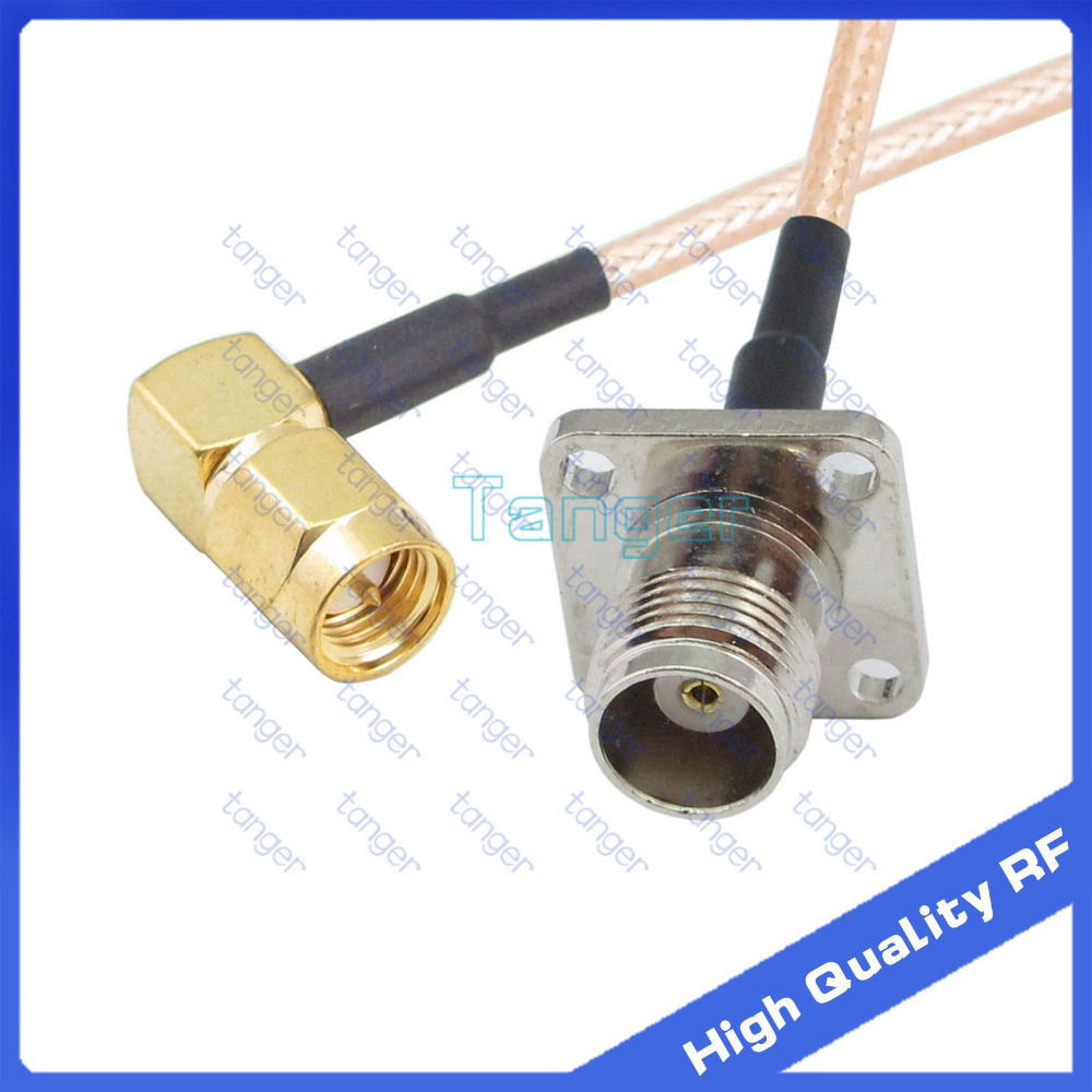 Tanger TNC female jack 4four hole panel to SMA male plug right angle with RG-316 RF Coaxial Pigtail Jumper RF cable 8inch 20cm русский гамак rg 20 материал канвас полоска 4