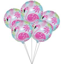 5pcs Hawaii Flamingo Party Foil Balloon Diy Wedding Decorations Baloon Kids Adult Happy Birthday Balon Event Supplies