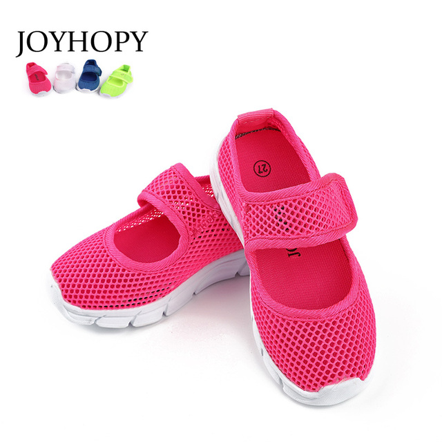 Карамельный цвет летние Обувь с дышащей сеткой детская обувь односеточный ткань для спортивной обуви Повседневное мальчиков обувь, женские кроссовки
