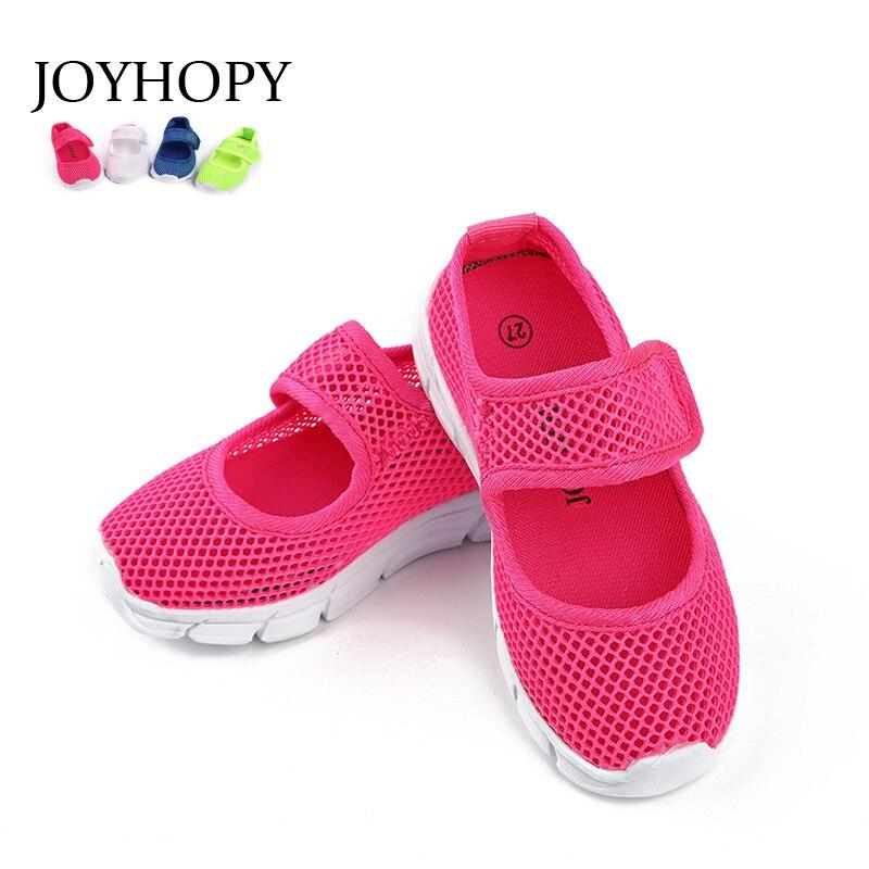 Del color del caramelo del verano respirable malla niños Zapatos único Net paño niños deportes Zapatos casual Niños Zapatos Niñas sneakers
