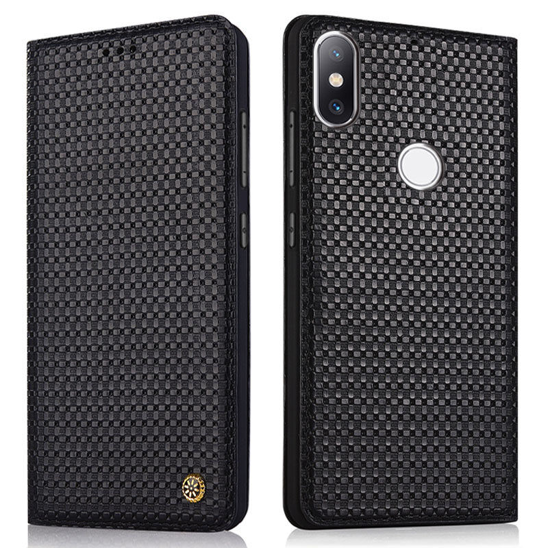 New for Xiaomi Mi 8 Case Mi8 SE Cover Flip Luxury Geniuine Cowhide Leather Soft Silicone