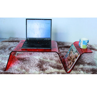 Clear Red Acrylic Laptop Tray,Lucite Breakfast Bed Trays