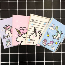 Cute Unicorn Set 1 Notebook+1 Ballpoint Pen Writing Diary Book Kids Gift Station