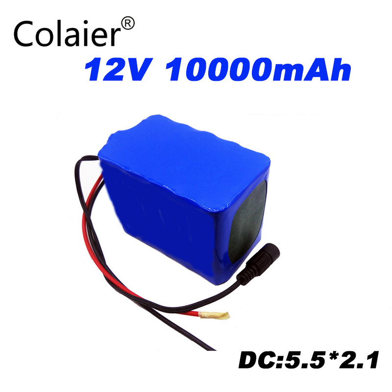 Colaier Large capacity <font><b>12V</b></font> <font><b>10Ah</b></font> 18650 <font><b>lithium</b></font> <font><b>battery</b></font> protection board 12.6v 10000mah capacity image