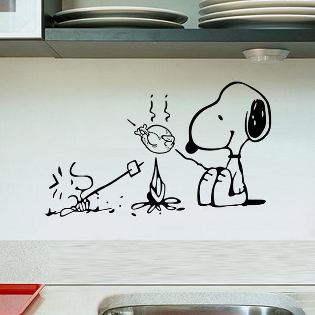 Nueva cocina pegatinas de bricolaje home decor arte mural tatuajes de pared de vinilo cita extraíble perro lindo etiqueta de la pared para la decoración