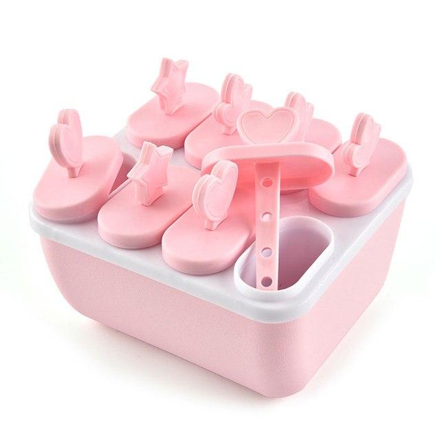 Форма для льда инструменты мороженое эскимо форма замороженная мороженница лоток Сковорода Кухня DIY замороженная присоска Popside круглая квадратная @