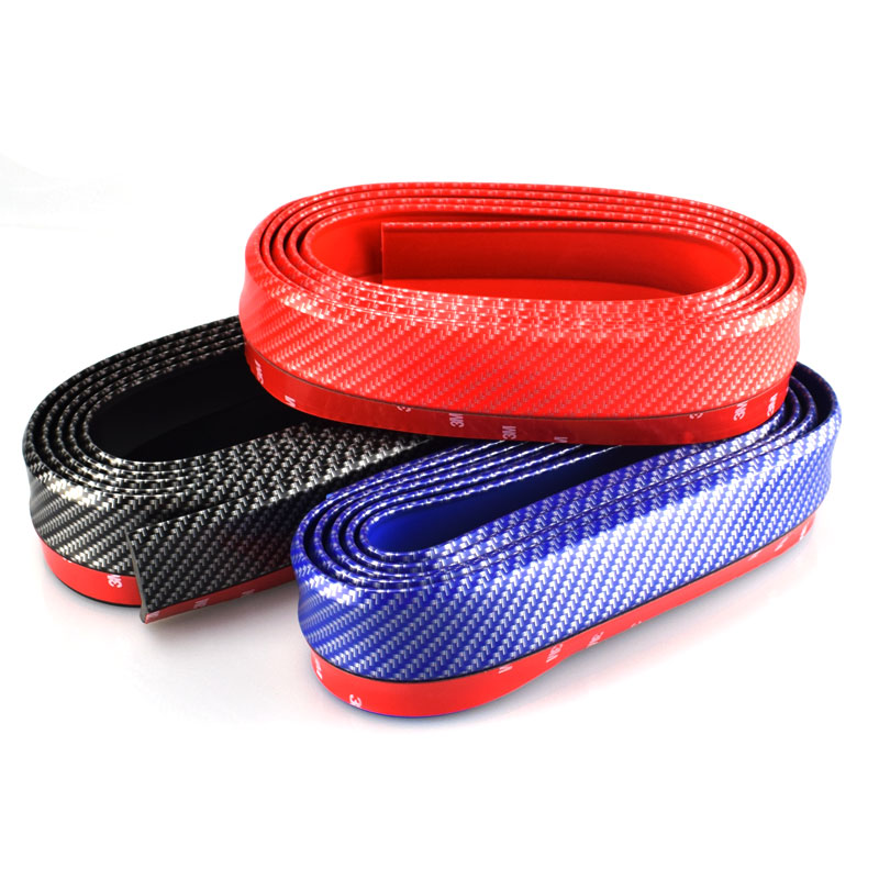 2.5M Car-Styling Skirt Carbon Fiber Plating DIY Anti-scratch Front Lip Bumper Decoration Car Sticter Case For Toyota Mazda Ford