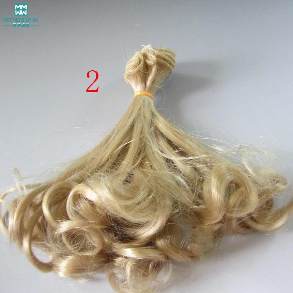 1 шт. 15 см и 25 см * 100 см кукольные волосы груша рулоны парики для кукол ftis 1/4 1/3 1/6 bjd кукла Золотой \ коричневый и другие цвета