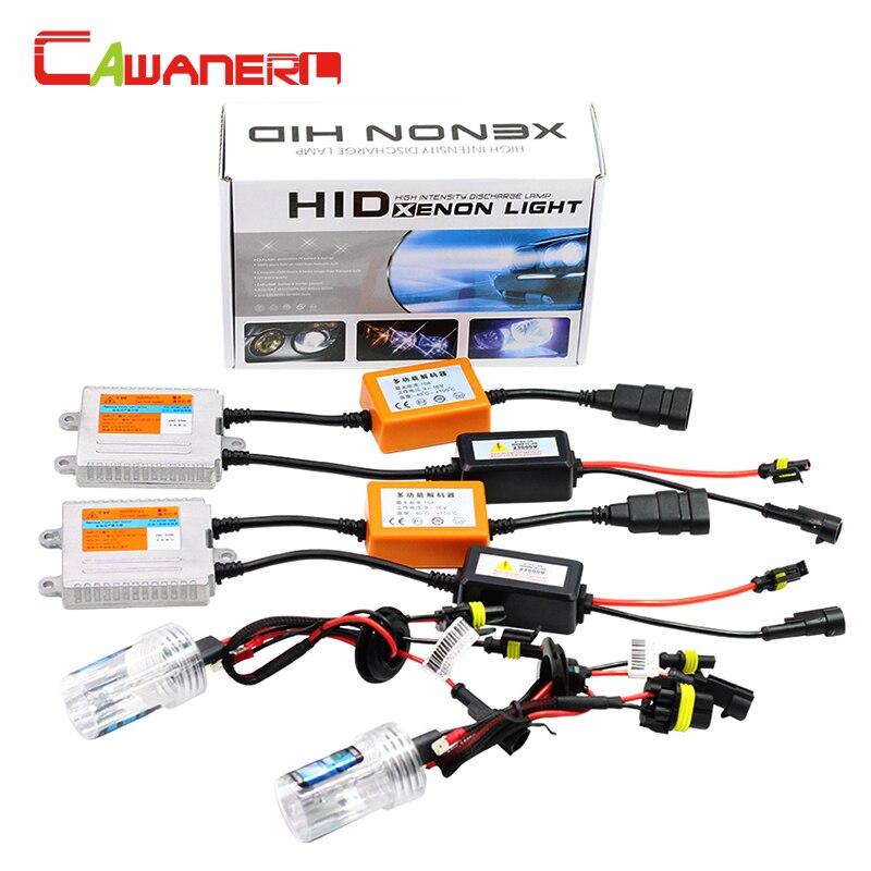 Cawanerl 55W Car Headlight No Error HID Xenon Kit Canbus Ballast Bulb AC 12000K H1 H3 H7 H8 H9 H11 9005 HB3 9006 HB4 880 881 fast star ac 55w h1 h3c h7c h7rc hb3 hb4 car xenon hid headlight bulb
