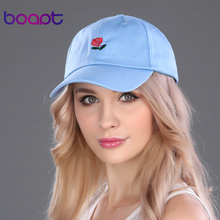 BOAPT 2017 rose floral embroidery dad hat cotton women's hats brand baseball cap female summer snapback pokemon sun caps