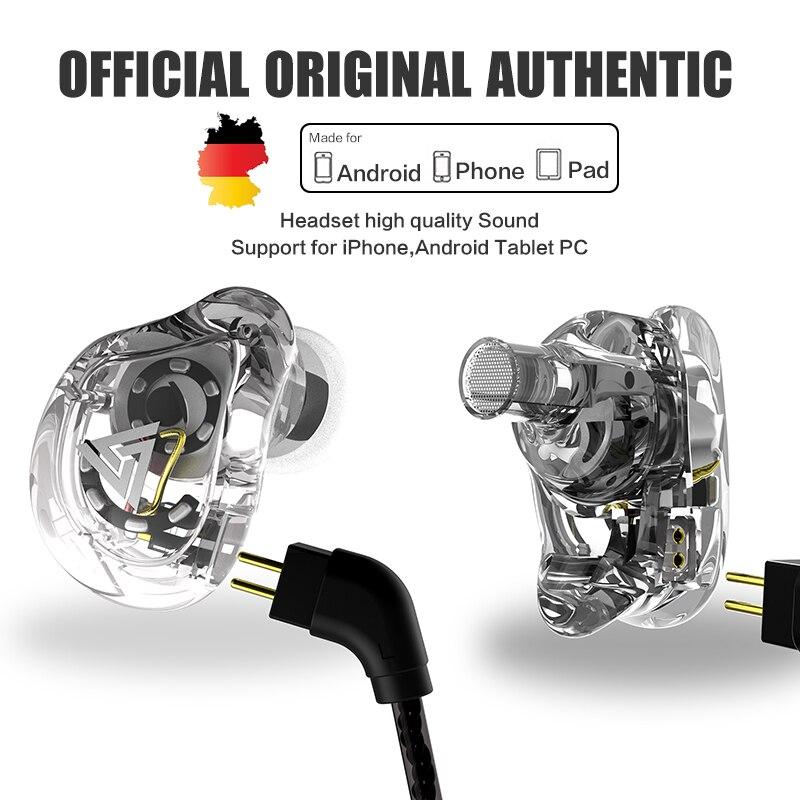 QKZ VK1 ZS10 наушники для бега, спортивные наушники, 4 привода, гарнитура ZS6 с 4 динамическими гибридными наушниками, HIFI DJ Monito