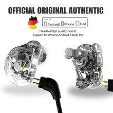 QKZ VK1 ZS10 Kopfhörer Lauf Sport Kopfhörer 4 Stick Einheit Headset ZS6 Mit 4 Dynamische Hybrid In Ohr Kopfhörer HIFI DJ Monito
