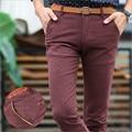2017 Осень и зима новый хлопок сплошной цвет мужская повседневная брюки Корейских Тонкий брюки молодые Топы мода прилив