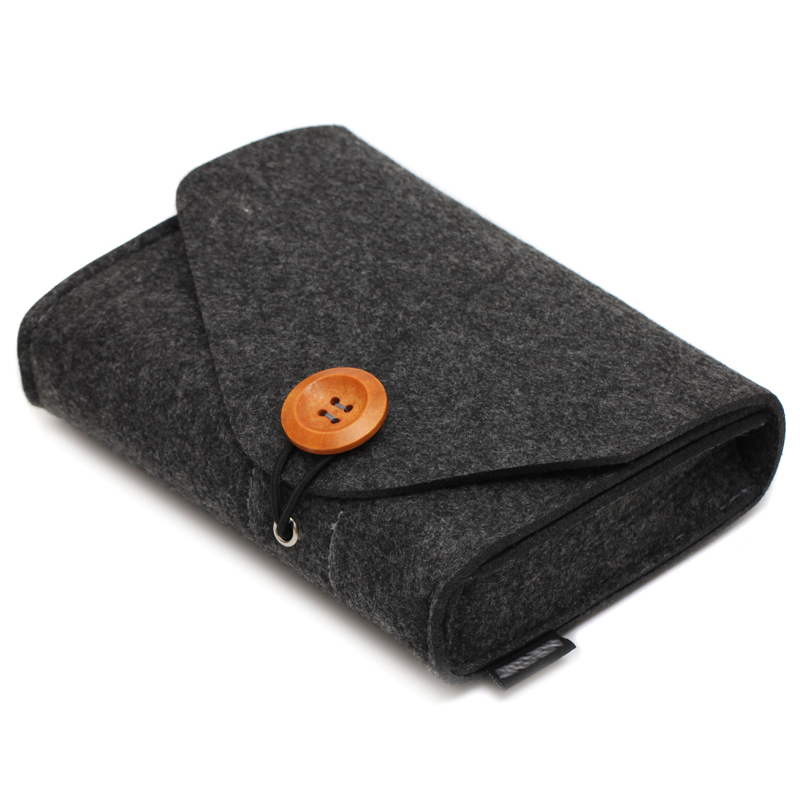 2018 Fashion Power Bank Storage Bag 2 Color Mini Felt Adapter Pouch For Data Cable Mus Reise Elektronisk Gadgets Organizer