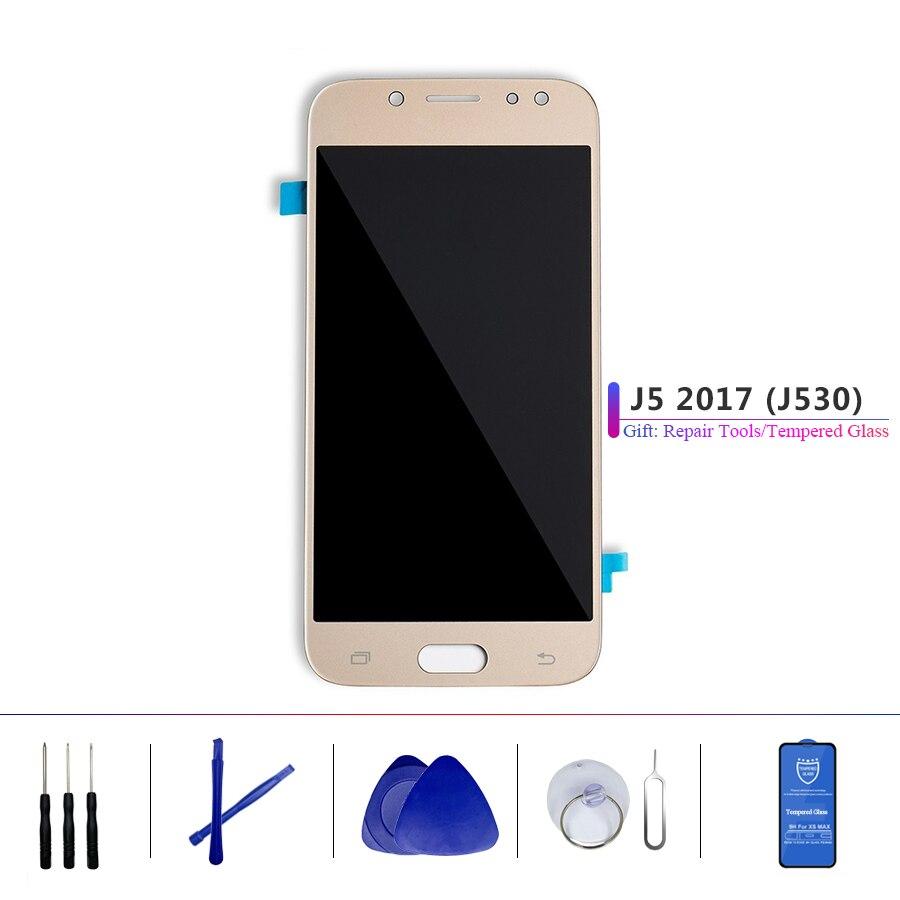 Assemblée originale superbe d'écran tactile d'affichage à cristaux liquides d'amoled avec le numériseur pour l'affichage de Samsung Galaxy J5 Pro J5 2017 J530 J530F J530M