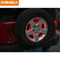 SHINEKA Metal Spare Tire Light Rear Break Light LED Exterior Accessories for Jeep Wrangler JK 2007+ Car Styling