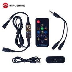 Bluetooth Music Dream Controller DC5-24V Infrared 13 Keys Remote Controller WS2812B WS2811 Led Strip Matrix Panel 512 Pixels