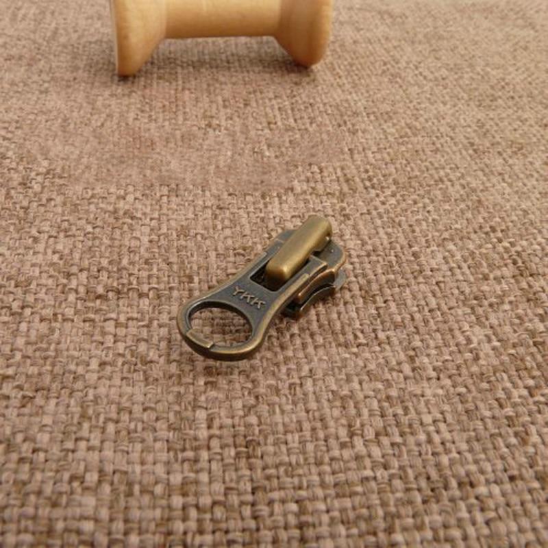 50 Pcs lot Metal YKK Zipper Slider Head Bronze Puller for Ykk Copper Zipper Sewing Accessories
