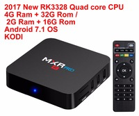 2017 New MXR PRO Android 7 1 Smart TV BOX RK3328 Quad Core 4G 32G 2G