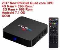 2017 neue MXR PRO Android 7.1 Smart TV BOX RK3328 Quad Core 4G Ram 32G Rom 4 Karat H265 KODI 17,3 Media Player Set-top Box TV Boxen
