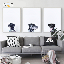 NOOG Nordic poster Picture Wall Art Canvas Painting Dog Newspaper Posters And Print Pictures No Poster Frame