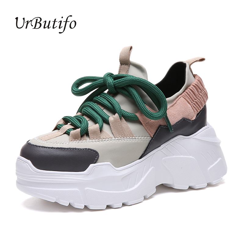Urbutifo Wedges Shoes Woman Mesh Patchwork Platform Sneakers For Girls Adidasy Damskie Comfort Lace-Up Female Black ShoesUrbutifo Wedges Shoes Woman Mesh Patchwork Platform Sneakers For Girls Adidasy Damskie Comfort Lace-Up Female Black Shoes