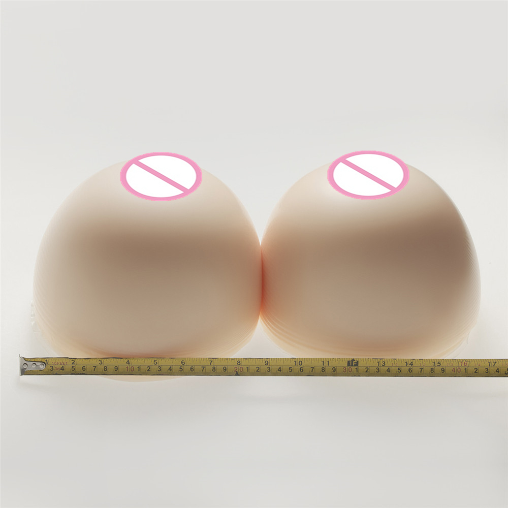 Buy Super Huge Silicone Breast 6000g/Pair White Simulation Silicone Breasts Form Drag Queen Crossdresser Artificial Fake Boobs