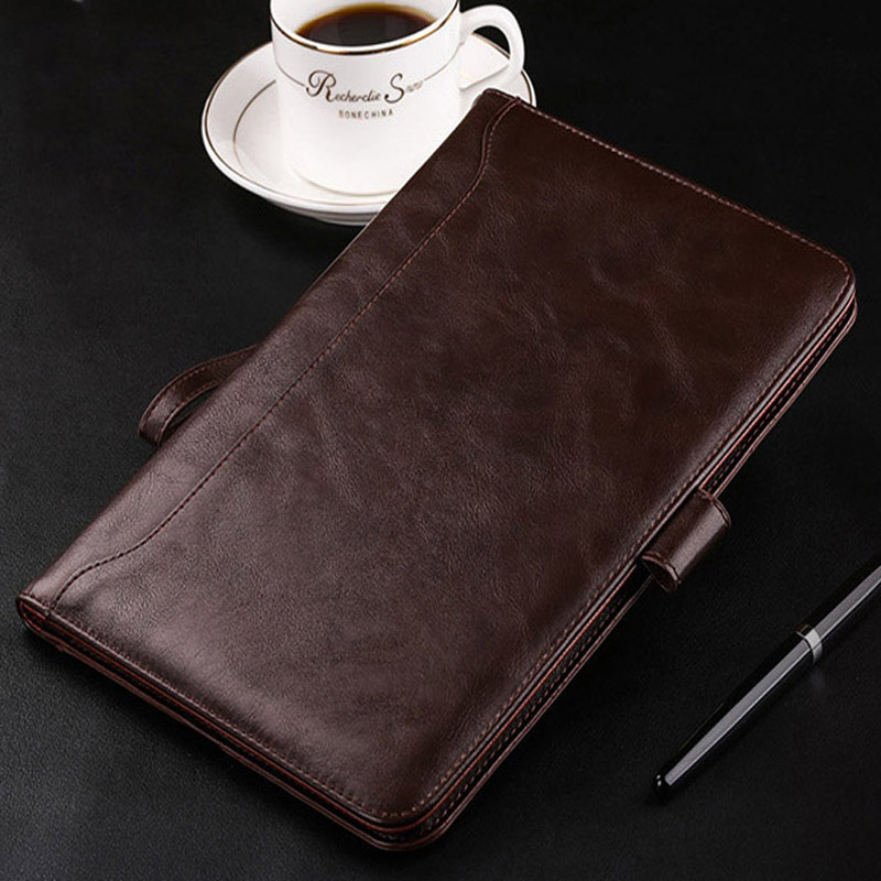 Case For iPad Air 1 Air 2 Luxury Leather Business Folio Stand Pocket Auto Wake Smart