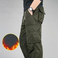 2017 Winter Men S Warm Fleece Cargo Pant Men Double Layer Baggy Pants For Men Military