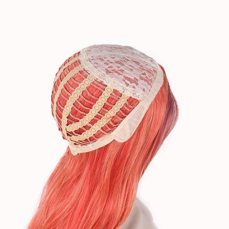 WoodFestivalmixed färgparykar för kvinnor lockiga peruker - Syntetiskt hår - Foto 3