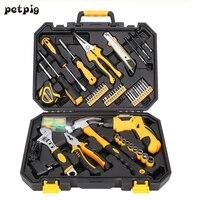 Petpig ремонт дома набор инструментов Отвертка гаечный ключ, молоток Комбинации набор инструментов Высокое качество комплект для ремонта Пор