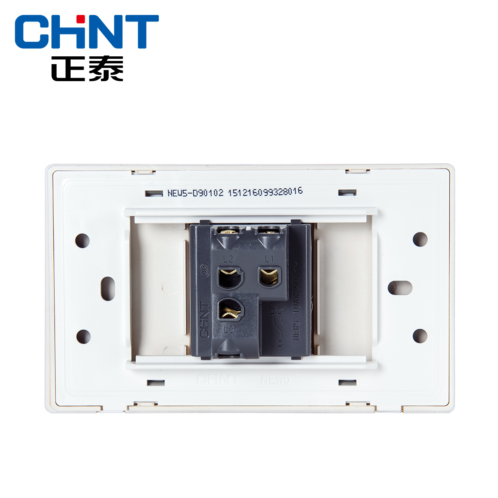 Buy Chint Electric 118 Type Switch Socket New5d House Wiring Two Gang Wall Wire Drawing Gold Within Steel Frame One Way Switches From Reliable