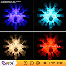 Colors Changable Inflatable Lighting toy snowflake For Decoration