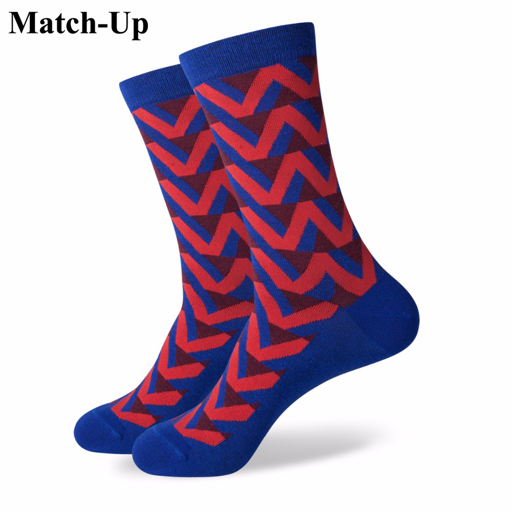 Match-Up ColorfulSOCK Fun Men's Cotton Socks Wedding Anchor Socks US Size(7.5-12)