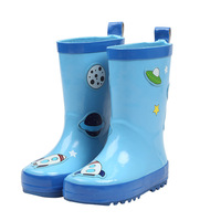 All Seasons Football Rubber Children Shoes Spaceship Kids Rain Boot Baby kids Butterfly Boots White clouds Children Sneakers