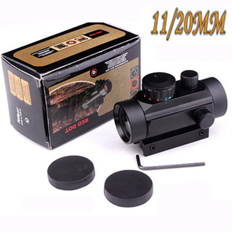 1X30 Red & Green Dot Scope Tactical Hunting Holographic Sight For Shot Gun Airsoft 11/20mm Rail Mount Riflescopes Hunting Optics
