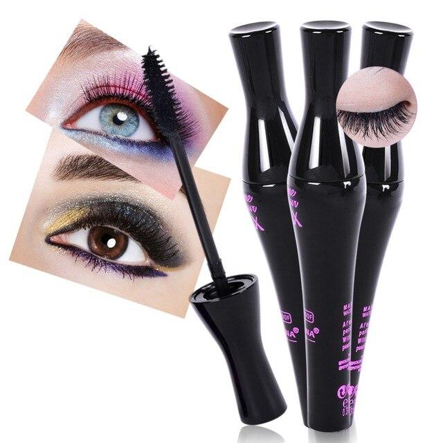 Rimel negro impermeable largo rizador de ojos pestañas maquillaje extensión mujer cosméticos