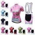 Женский комплект Джерси для велоспорта  розовый и красный комплект с шортами на лямках  для горного велосипеда  для девочек  2019